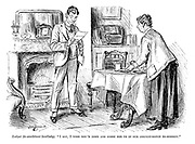 """Lodger (to exorbitant landlady). """"I say, I wish you'd come and score for us in our cricket-match to-morrow."""""""