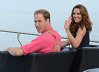 The Duke and Duchess of Cambridge visit Marau, Solomon Islands, as part of their Diamond Jubilee Tour of South East Asia, on the 17th September 2012<br /> <br /> PICTURE BY JAMES WHATLING