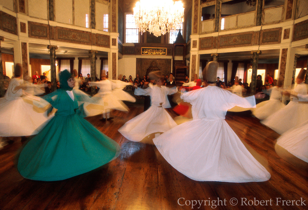 TURKEY, ISTANBUL, OTTOMAN Ceremony of the 'Whirling Dervishes'