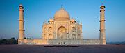 The Taj Mahal mausoleum eastern view (viewed from Taj Mahal Mosque), Uttar Pradesh, India