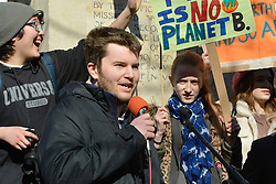 School pupils call for radical climate action in UK-wide strike in which more than 10,000 young people from around the country took part  - Robert Nixon from North Oxfordshire Green Party, Oxford UK. 15 February 2019