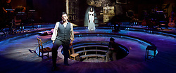 Whisper House <br /> by Duncan Sheik<br /> at The Other Place, Westminster, London, Great Britain <br /> Press photocall <br /> 13th April 2017 <br /> <br /> Simon Bailey as Male Ghost <br /> <br /> Niamh Perry as Female Ghost <br /> <br /> <br /> <br /> Photograph by Elliott Franks <br /> Image licensed to Elliott Franks Photography Services