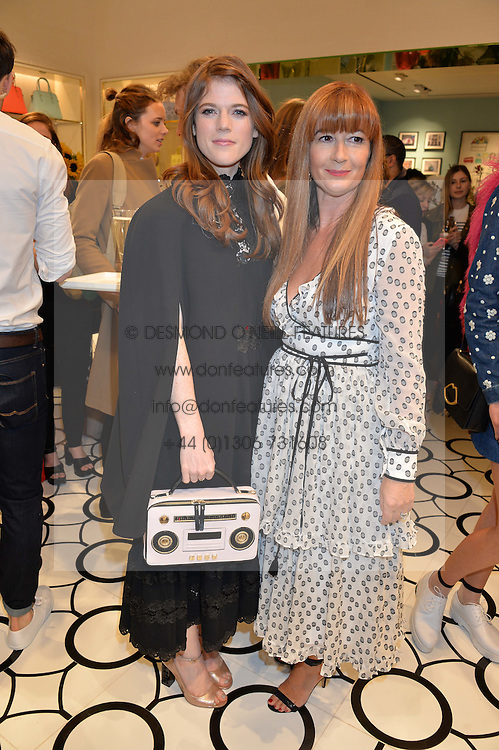 Left to right, ROSE LESLIE and DEBORAH LLOYD at the opening party of the new Kate Spade New York store at 182 Regent Street, London on 21st April 2016.