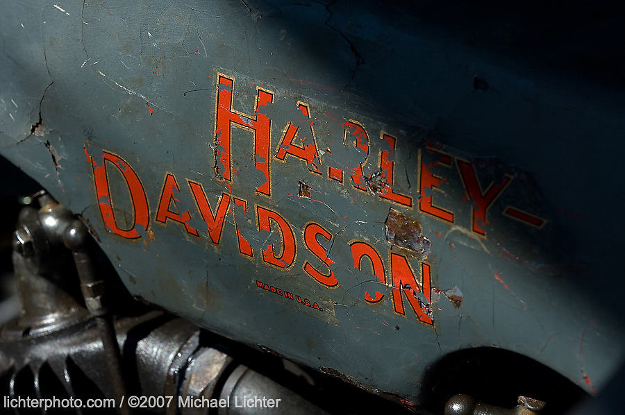 1920's Harley JD. Daytona Beach, FL. 2007<br /> <br /> Limited Edition Print from an edition of 50. Photo ©2007 Michael Lichter.