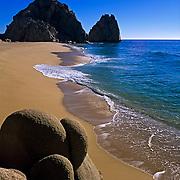 Beach in Cabo San Lucas. Baja California, Mexico.