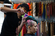 """HIRO, The Epic Hair Artist <br /> <br /> In Osaka, Japan, lies a hair salon called """"Trick Store."""" One of their artists, Hiro, has created some of the most cutting edge new styles simply by responding to his clients' requests. He creates hair styles that one can only call works of art along with his clients, cleverly using 3 different sized shavers and paint brushes, which are not typically used in hair styling. He has made styles based on a tomato, lizard, ladybug, goldfish, and more, and when he posted a picture of his tomato style online, the impact was such that it was shared worldwide.<br /> He has been invited to both China and Korea as a lecturer, and says he wants to work internationally in the future as well. It really is difficult to peel your eyes away from his boundary defying work. <br /> ©Exclusivepix Media"""
