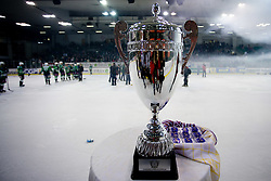 Trophy at 6th Round of ice-hockey Slovenian National Championships match between HDD Tilia Olimpija and HK Acroni Jesenice, on April 2, 2010, Hala Tivoli, Ljubljana, Slovenia.  Acroni Jesenice won 3:2 after overtime and became Slovenian National Champion 2010. (Photo by Vid Ponikvar / Sportida)