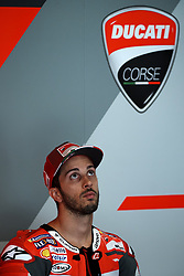 June 16, 2018 - Barcelona, Catalonia, Spain - Andrea Dovizioso (4) of Italy and Ducati Team during the qualifying of the Gran Premi Monster Energy de Catalunya, Circuit of Catalunya, Montmelo, Spain.On 16 june of 2018. (Credit Image: © Jose Breton/NurPhoto via ZUMA Press)