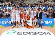 Trento 27 Luglio 2012 - Trentino Basket Cup Italia Montenegro<br /> Nella Foto: team nazionale coppa<br /> Foto Ciamillo