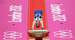 File photo dated 01-08-2012 of Great Britain's Daniel Purvis competes on the vault during the Artistic Gymnastics Men's All Round Final