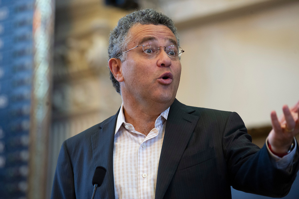 """Noted legal analyst, lawyer, blogger and author Jeffrey Toobin greets fans and delivers a keynote speech at the Texas Book Festival on October 27, 2012. Toobin's appearance coincided with the publication of one of his many books, """"The Oath"""" about the Obama White House and the Supreme Court."""