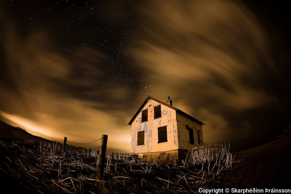 A whisper in the dark<br /> Abandoned farm Hólmur in Reykjanes, west Iceland