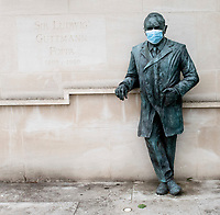 "A life-sized cast-bronze statue of Professor Sir Ludwig ""Poppa"" Guttmann at Stoke Mandeville Hospital"
