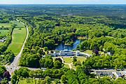 Nederland, Utrecht, Gemeente Baarn, 13-05-2019; Paleis Soestdijk. Voormalig eigendom van de Nederlandse Staat, nu in bezit van een particuliere eigenaar, projectontwikkelaar MeyerBergman Erfgoed Groep.<br /> Soestdijk palace, residence of the former queen Juliana and prince Bernhard.<br />  <br /> luchtfoto (toeslag op standard tarieven);<br /> aerial photo (additional fee required);<br /> copyright foto/photo Siebe Swart