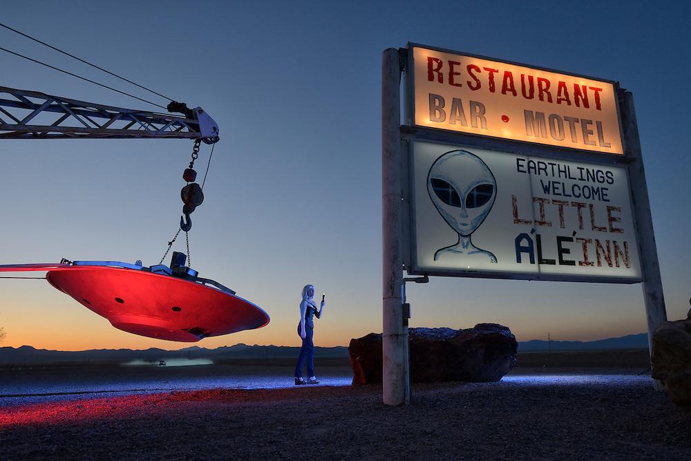 American Dreamscapes  /  Rachel<br /> Rachel,Nevada,USA,2014