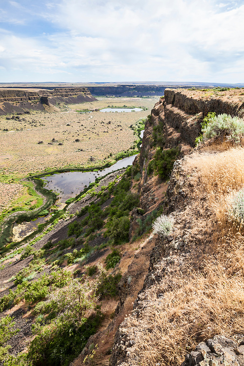 Looking down the canyon from Dry Falls visitors center, Washington, USA.