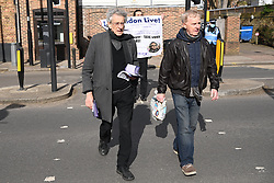 © Licensed to London News Pictures. 13/03/2021. London, UK. PIERS CORBYN attends an anti-vaccination and anti-lockdown demonstration organised by Jam For Freedom in Richmond.  The group is using music to create positive effects and health against the current tier regulations and anti-vaccination for the Covid-19 disease. Photo credit: Ray Tang/LNP