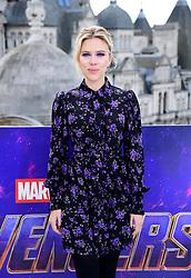 Scarlett Johansson attending a photocall for Avengers: Endgame, at the Corinthia in London.
