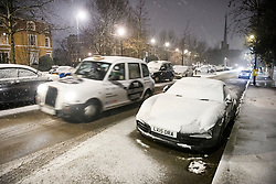 © Licensed to London News Pictures. 01/02/2019. London, UK. Heavy snowfall in Maida Vale, West London as large parts of the UK are deluged with snow and freeing temperatures. Photo credit: Ben Cawthra/LNP