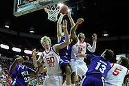 12 MAR 2009:  Texas Christian University takes on University of Utah during the Mountain West Conference Men's Basketball Tournament held at the Thomas & Mack Center in Las Vegas, NV.  Brett Wilhelm/NCAA Photos