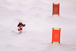 Switzerland's Deborah Scanzio practices during the Freestyle Skiing womens Moguls Entries by Event during a preview day at the Phoenix Snow Park, ahead of the PyeongChang 2018 Winter Olympic Games in South Korea.