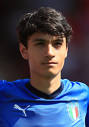 Italy U17's Giuseppe Leone during the UEFA European U17 Championship, Group A match at Banks's Stadium, Walsall. PRESS ASSOCIATION Photo. Picture date: Monday May 7, 2018. See PA story SOCCER England U17. Photo credit should read: Mike Egerton/PA Wire. RESTRICTIONS: Editorial use only. No commercial use.