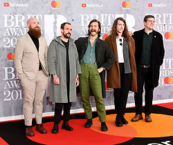 February 21, 2019 - London, London, United Kingdom - Image licensed to i-Images Picture Agency. 20/02/2019. London, United Kingdom. The Idles at the Brit Awards in London. (Credit Image: © i-Images via ZUMA Press)