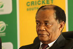 during the press conference held by Cricket South Africa to announce the outcome of an Anti Corruption investigation.  It was announced that Jean Symes, formerly of the Lions was banned for 7 years, Pumelela Matshikwe, formerly of the Lions was banned for 10 years, Ethy Mbhalati, formerly of the Titans was banned for 10 years and Thami Tsolekile, a former Proteas's wicket keeper, contracted to and captain of the Lions was banned for 12 years.  The press conference was held at PPC Newlands Cricket Stadium in Cape Town, South Africa on the 8th August 2016<br /> <br /> Photo by:   Ron Gaunt / Real Time Images