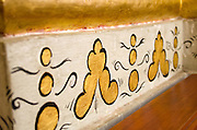 Gold-leafed wall decoration at the Templo de Santo Domingo de Guzmán, Oaxaca, Mexico.