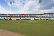 View of the pavillion before the Specsavers County Champ Div 2 match between Durham County Cricket Club and Leicestershire County Cricket Club at the Emirates Durham ICG Ground, Chester-le-Street, United Kingdom on 18 August 2019.