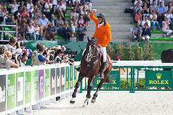 Jeroen Dubbeldam, (NED), Casall Ask - Show Jumping Final Four - Alltech FEI World Equestrian Games™ 2014 - Normandy, France.<br /> © Hippo Foto Team - Leanjo de Koster<br /> 07-09-14