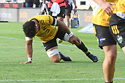 Hurricanes Ardie Savea holds his knee in the Super Rugby match, Hurricanes v Crusaders, Sky Stadium, Wellington, Sunday, April 11, 2021. Copyright photo: Kerry Marshall / www.photosport.nz