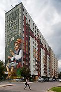 Białystok. Największy mural ludowy w Polsce
