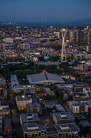 Seattle Center featuring Key Arena and Space Needle