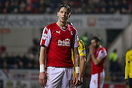 Rotherham United defender Greg Halford (15)  during the Sky Bet Championship match between Rotherham United and Middlesbrough at the New York Stadium, Rotherham, England on 8 March 2016. Photo by Simon Davies.