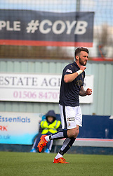 Falkirk's Lee Miller celebrates after scoring their first goal. <br /> Falkirk 3 v 2 St Mirren, Scottish Championship game played 9/4/2016 today at The Falkirk Stadium.