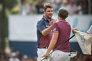 Marc Leishman (AUS) and Cameron Smith (AUS) during the final round of the Australian PGA Championship, Royal Pines Resort Golf Course, Benowa, Queensland, Australia. 02/12/2018<br /> Picture: Golffile | Anthony Powter<br /> <br /> <br /> All photo usage must carry mandatory copyright credit (© Golffile | Anthony Powter)