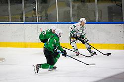 44# Lipsbergs Roberts of EC Bregenzerwald during the match of Alps Hockey League 2020/21 between HK SZ Olimpija Ljubljana vs. EC Bregenzerwald, on 09.01.2021 in Hala Tivoli in Ljubljana, Slovenia. Photo by Urban Meglič / Sportida