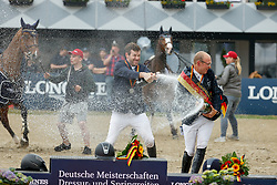 BALVE - Longines Balve Optimum 2021<br /> <br /> WEISHAUPT Maximilian (GER), MEYER Tobias (GER)<br /> Meisterehrung Deutsche Meisterschaft Springreiten<br /> LONGINES OPTIMUM PREIS<br /> Deutsche Meisterschaft Finalwertung Springreiten<br /> Springprüfung Kl. S**** mit 2 Umläufen<br /> <br /> Balve, Reitstadion Schloss Wocklum<br /> 05. June 2021<br /> © www.sportfotos-lafrentz.de/Stefan Lafrentz