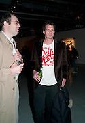 GEORGE WOODS; DAN SNOW, Fired Up, Exhibition of work by Joe Clark, Lauren Cotton, Rory McCartney, David Jones and Farid Rasulov. Gazelli Art House. Wakefield st. London. WC1. 10 February 2011. -DO NOT ARCHIVE-© Copyright Photograph by Dafydd Jones. 248 Clapham Rd. London SW9 0PZ. Tel 0207 820 0771. www.dafjones.com.