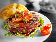Hamburger with bub and relish
