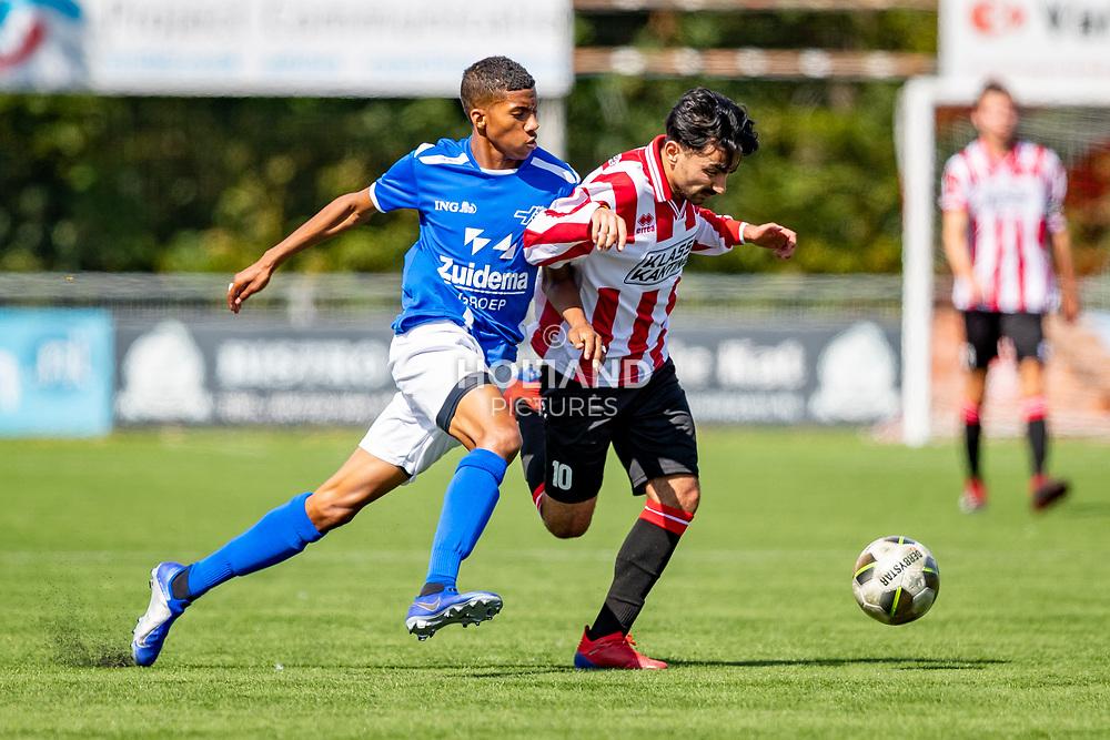 01-09-2019: Voetbal: Alphense Boys v Hoogeveen: Alphen aan den Rijn<br /> Hoofdklasse A - Seizoen 2019-2020<br /> (L-R) #7 Jearl Margaritha (Hoogeveen), #10 Cem Sahin (Alphense Boys)