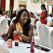 Miss Uganda UK 2019 Caitlin Ochana Uzokwe attend the Mr & Miss Congo 2020,on 29th Febryary 2020 at Old Townhall,Stratford, London, UK.