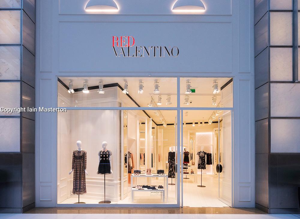 Red Valentino fashion  shop in Dubai Mall Dubai United Arab Emirates