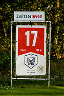 20-07-2019 Pictures of the final day of the Zwitserleven Dutch Junior Open at the Toxandria Golf Club in The Netherlands.<br /> Hole sign