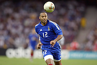 FOTBALL - CONFEDERATIONS CUP 2003 - FINAL - FRANKRIKE V KAMERUN - 030629 - THIERRY HENRY (FRA) - PHOTO JEAN MARIE HERVIO / DIGITALSPORT