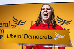 © Licensed to London News Pictures. 22/07/2019. London, UK. JO SWINSON speaks after been elected as the leader of the Liberal Democrats. JO SWINSON, MP for East Dunbartonshire, won the leadership election receiving 47,997 votes. Photo credit: Dinendra Haria/LNP