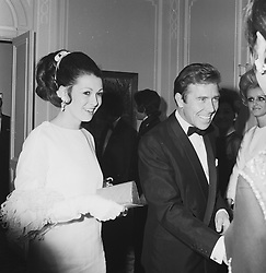The EARL OF SNOWDON and the COUNTESS BATTY at a Valentino fashion show at The Savoy, London in November 1968.
