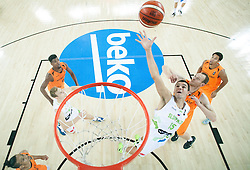 Jure Balazic of Slovenia during basketball match between Slovenia vs Netherlands at Day 4 in Group C of FIBA Europe Eurobasket 2015, on September 8, 2015, in Arena Zagreb, Croatia. Photo by Vid Ponikvar / Sportida