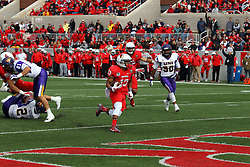 03 October 2015:  Almost untouched from the hand off, Jamal Towns(13) crosses the goal for 6 points. NCAA FCS Football between Northern Iowa Panthers and Illinois State Redbirds at Hancock Stadium in Normal IL (Photo by Alan Look)